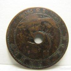 Monedas ibéricas: RARA MONEDA PONE DOS GRAMOS Y ESTA PERFORADA DE ORIGEN. Lote 209057882