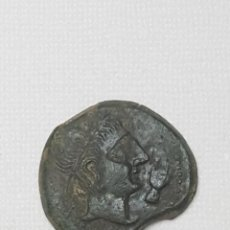 Monedas ibéricas: MUY BONITO AS DE CASTULO CAZLONA (JAEN) 50 A.C. BONITA PÁTINA VERDE ESFINGE Y MANO. Lote 210342513