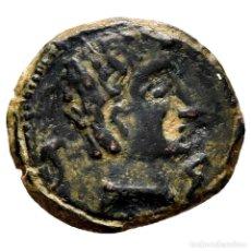 Monedas ibéricas: ANTIGUA HISPANIA, ICALCUSCEN. SEMIS. 120-20 A.C. INIESTA (CUENCA).. Lote 211958487