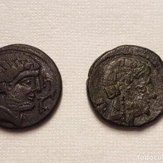 Monedas ibéricas: LOTE DE 2 AS IBÉRICOS DE KONTERBAKOM BEL (CONTERBIA BELAISKA, ZARAGOZA) SIGLO II A.C. Lote 214843382
