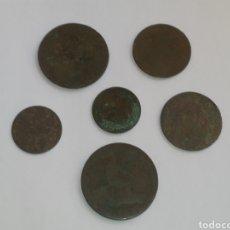 Monedas ibéricas: LOTE DE 6 MONEDAS ESPAÑA CÉNTIMOS SIGLO XIX. Lote 215258221