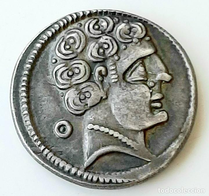 Monedas ibéricas: Denario Arekoratas circa 120-20 a.c. - Foto 3 - 214498703