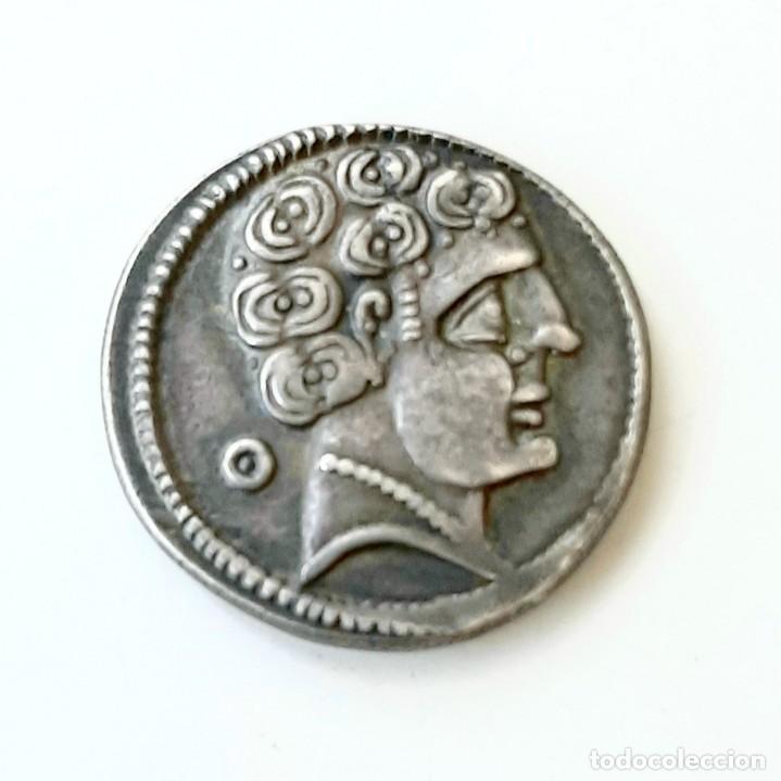 Monedas ibéricas: Denario Arekoratas circa 120-20 a.c. - Foto 5 - 214498703