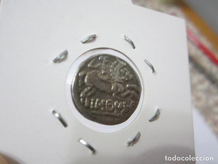 Monedas ibéricas: moneda de 1 Denario de Bascunes (Pamplona) siglo II A.C. extraordinaria - Foto 8 - 165303818