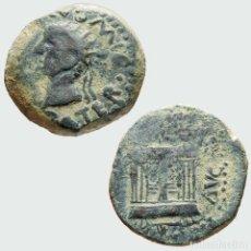 Monedas ibéricas: HISPANIA EMERITA ( MERIDA ) AS, TIBERIO, ALTAR. 84-M. Lote 221612712