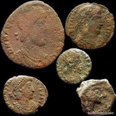 Monedas ibéricas: LOTE DE 5 MONEDAS ROMANAS. 64-M. Lote 221612940