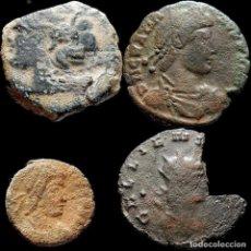 Monedas ibéricas: CURIOSO LOTE DE 4 MONEDAS DE ÉPOCA ROMANA. 58-M. Lote 221613038