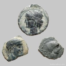 Monedas ibéricas: LOTE DE 3 MONEDAS DE ÉPOCA IBÉRICA. 91-M. Lote 221614271