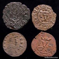 Monedas ibéricas: ESPAÑA - LOTE 4 MONEDAS - FELIPE II REYES CATOLICOS (2) ENRIQUE IV. Lote 221690685