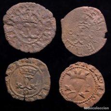 Monedas ibéricas: ESPAÑA - LOTE 4 MONEDAS DE LOS REYES CATOLICOS.. Lote 221690973