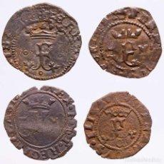 Monedas ibéricas: ESPAÑA - LOTE 4 MONEDAS DE LOS REYES CATOLICOS. (LE21). Lote 221691217