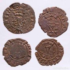 Monedas ibéricas: ESPAÑA - LOTE 4 MONEDAS DE LOS REYES CATOLICOS. (LE22). Lote 221691386