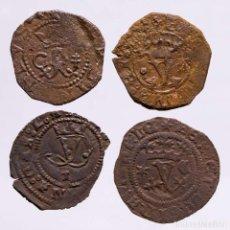 Monedas ibéricas: ESPAÑA - LOTE 4 MONEDAS DE LOS REYES CATOLICOS. (LE23). Lote 221691523