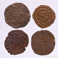 Monedas ibéricas: ESPAÑA - LOTE 4 MONEDAS DE LOS REYES CATOLICOS. (LE24). Lote 221691738