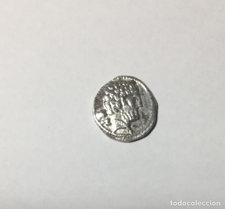 DENARIO IBÉRICO DE BOLSKAN , HUESCA , ARAGÓN . PLATA , SILVER . (Numismática - Hispania Antigua - Moneda Ibérica no Romanas)