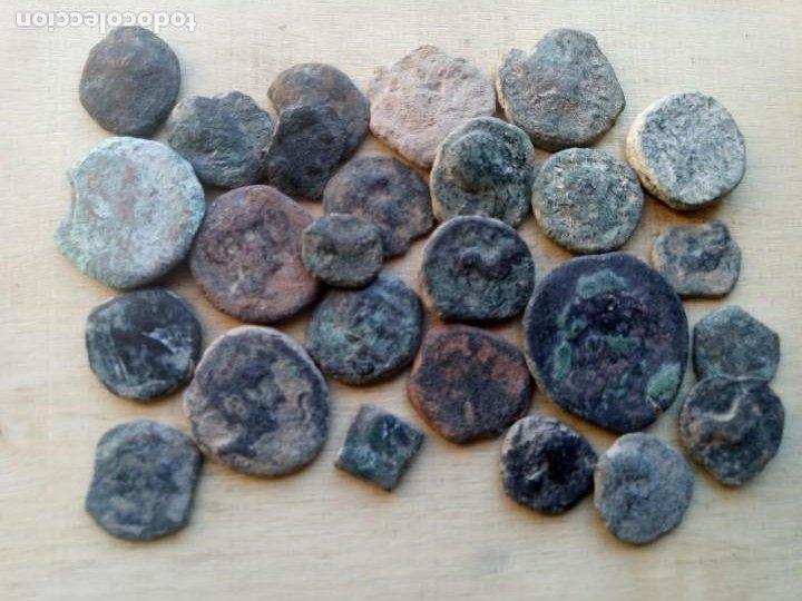 LOTE DE 25 MONEDAS ANTIGUAS DE HISPANIA. (Numismática - Hispania Antigua - Moneda Ibérica no Romanas)
