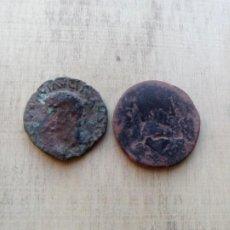 Monedas ibéricas: LOTE DE AS DE ILICI (TIBERIO) Y AS DE CELSA (AUGUSTO). Lote 234367945