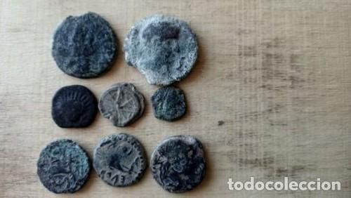 LOTE DE 8 MONEDAS HISPANAS. (Numismática - Hispania Antigua - Moneda Ibérica no Romanas)