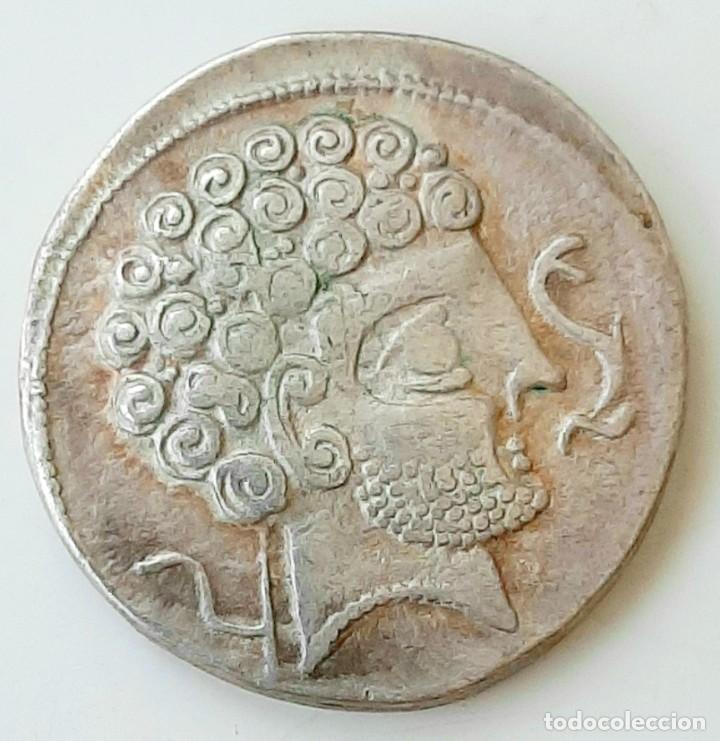 Monedas ibéricas: Denario Arsaos circa 150-100 a.c. - Foto 3 - 214488627