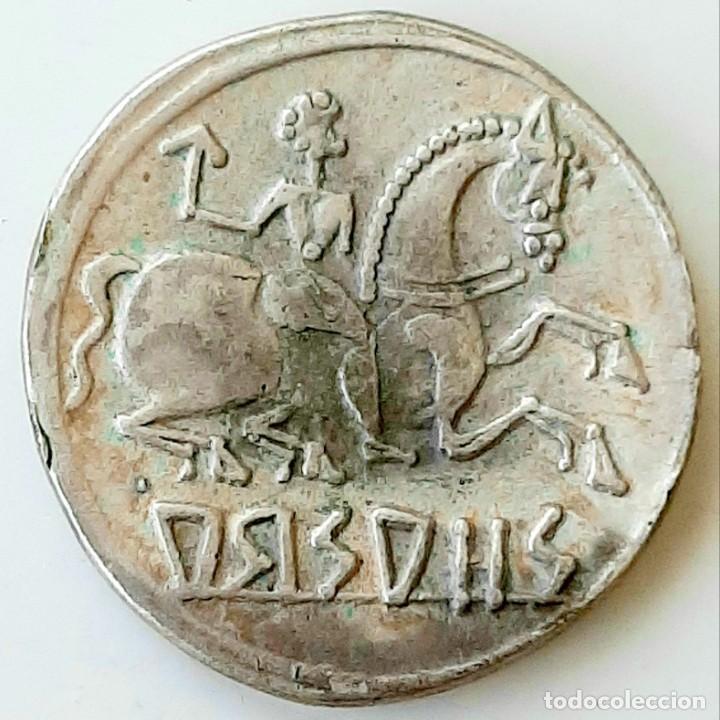 Monedas ibéricas: Denario Arsaos circa 150-100 a.c. - Foto 4 - 214488627