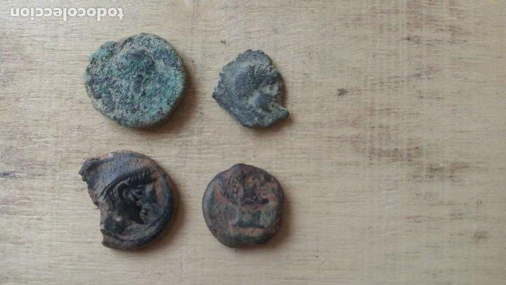 LOTE DE 4 SEMIS HISPANOS DEL TORO. (Numismática - Hispania Antigua - Moneda Ibérica no Romanas)