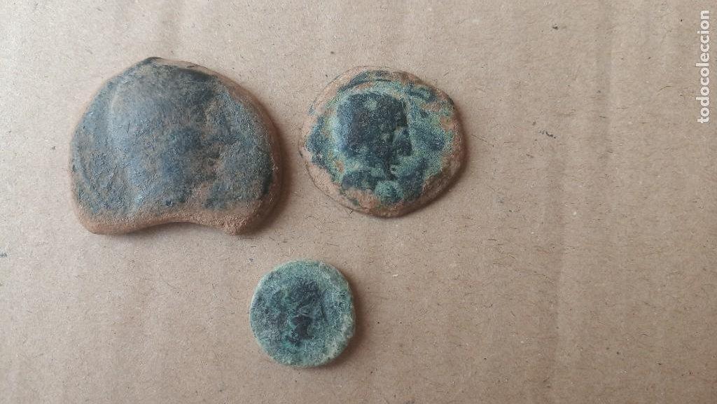 LOTE DE AS,SEMIS Y CUADRANTE DE CASTULO. (Numismática - Hispania Antigua - Moneda Ibérica no Romanas)