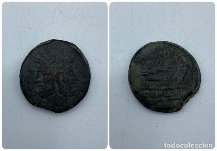 MONEDA. JANO. PESO 30 GR. (Numismática - Hispania Antigua - Moneda Ibérica no Romanas)