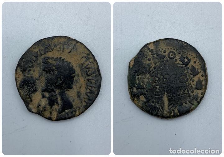 MONEDA. AS SEGOBRIGA. PESO 13 GR (Numismática - Hispania Antigua - Moneda Ibérica no Romanas)