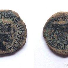 Monedas ibéricas: EXCELENTE AS HISPANO ROMANO / TURIASO / TIBERIO ( TARAZONA - ZARAGOZA ) 30 MM. / 13,3 GRS.. Lote 260463185