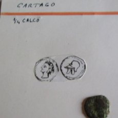 Monedas ibéricas: CARTAGO -1/4 DE CALCO. Lote 260637415