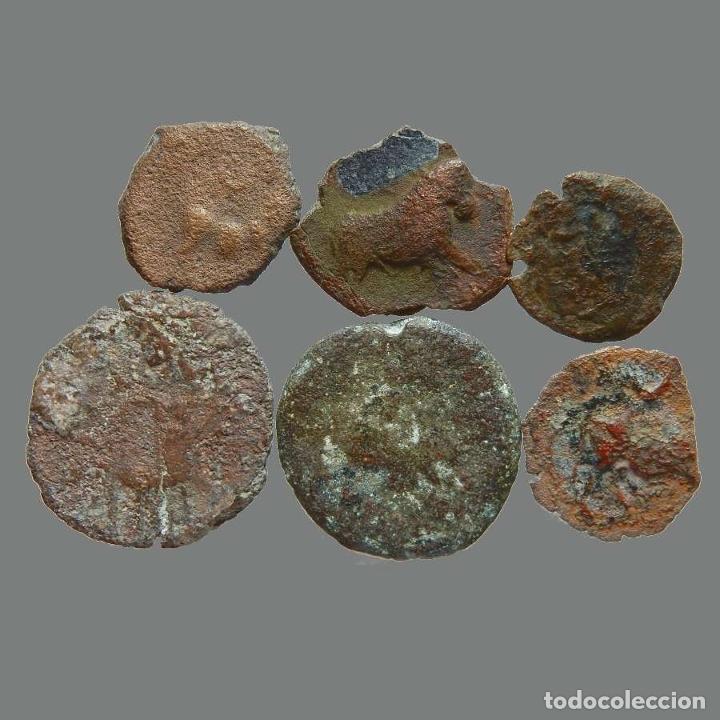 LOTE DE 6 MONEDAS DE ÉPOCA IBÉRICA. 214-L (Numismática - Hispania Antigua - Moneda Ibérica no Romanas)