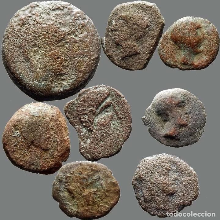 LOTE DE 8 MONEDAS DE ÉPOCA IBÉRICA. 208-L (Numismática - Hispania Antigua - Moneda Ibérica no Romanas)