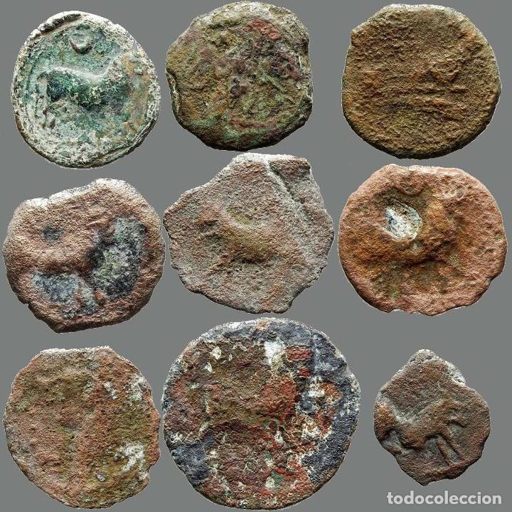 Monedas ibéricas: Lote de 9 monedas de época ibérica. 207-L - Foto 2 - 262142990