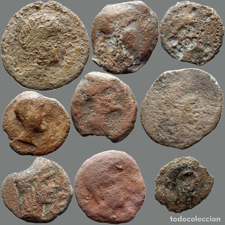 Monedas ibéricas: Lote de 9 monedas de época ibérica. 206-L - Foto 2 - 262142995