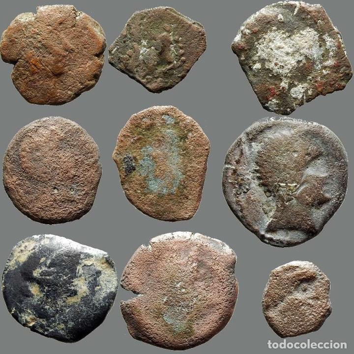Monedas ibéricas: Lote de 9 monedas de época ibérica. 205-L - Foto 2 - 262143030