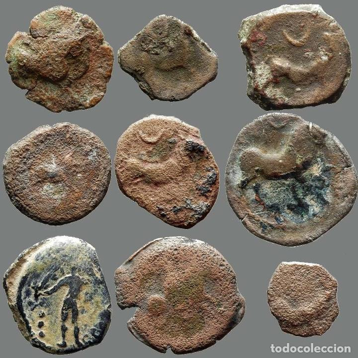 LOTE DE 9 MONEDAS DE ÉPOCA IBÉRICA. 205-L (Numismática - Hispania Antigua - Moneda Ibérica no Romanas)
