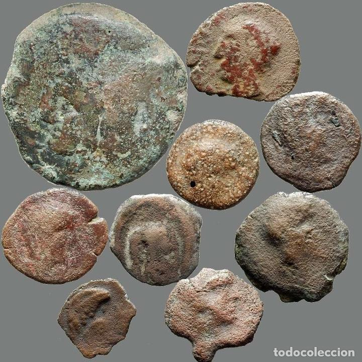 Monedas ibéricas: Lote de 9 monedas de época ibérica. 204-L - Foto 2 - 262143050