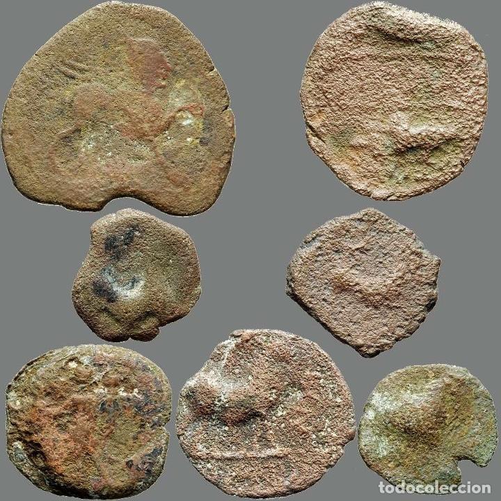 Monedas ibéricas: Lote de 7 monedas de época ibérica. 202-L - Foto 2 - 262143080