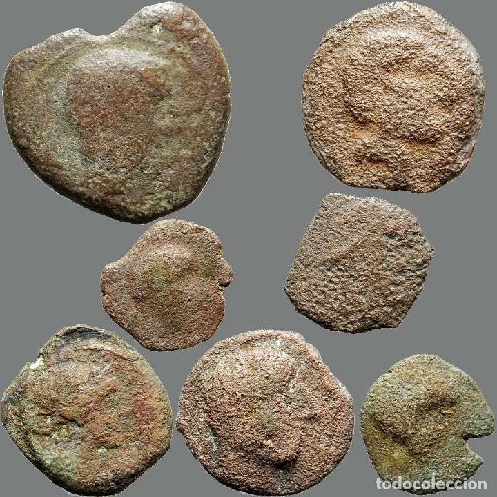 LOTE DE 7 MONEDAS DE ÉPOCA IBÉRICA. 202-L (Numismática - Hispania Antigua - Moneda Ibérica no Romanas)