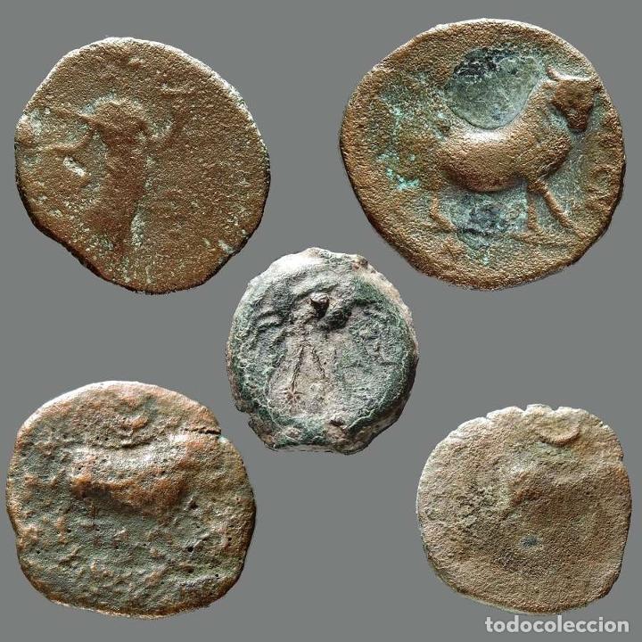 Monedas ibéricas: Interesante conjunto de bronces ibéricos, (5). 59-L - Foto 2 - 262143140