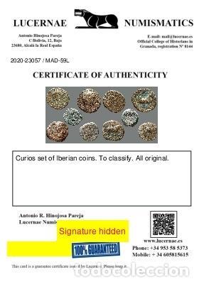 Monedas ibéricas: Interesante conjunto de bronces ibéricos, (5). 59-L - Foto 3 - 262143140