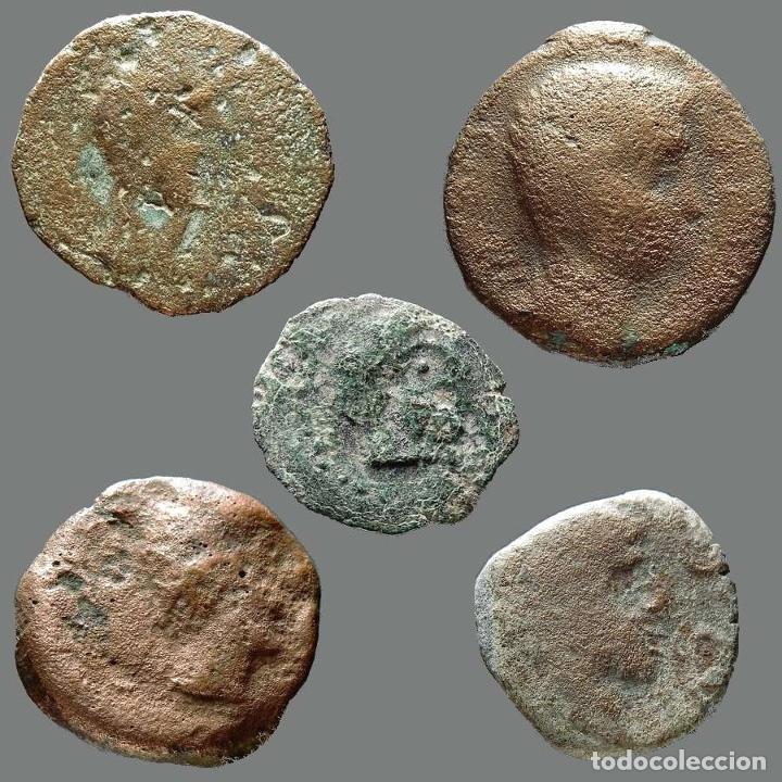 INTERESANTE CONJUNTO DE BRONCES IBÉRICOS, (5). 59-L (Numismática - Hispania Antigua - Moneda Ibérica no Romanas)