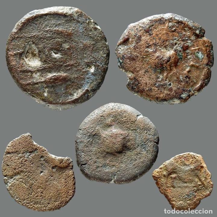 Monedas ibéricas: Interesante conjunto de bronces ibéricos, (5). 41-L - Foto 2 - 262143145
