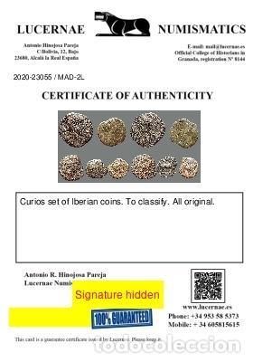 Monedas ibéricas: Interesante conjunto de bronces ibéricos, (5). 2-L - Foto 3 - 262143175