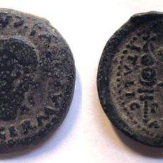 Monedas ibéricas: SEMIS HISPANO ROMANO / ITÁLICA / TIBERIO / CABEZA DE GERMÁNICO - ÁGUILAS LEGIONARIAS / SEVILLA. Lote 262693940