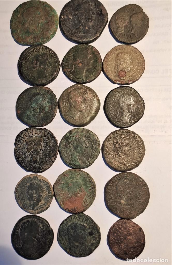 ¡¡OFERTA!! LOTE DE 18 MONEDAS HISPANO ROMANAS. PRECIOSAS (Numismática - Hispania Antigua - Moneda Ibérica no Romanas)