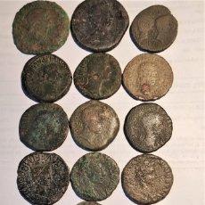 Monedas ibéricas: ¡¡OFERTA!! LOTE DE 18 MONEDAS HISPANO ROMANAS. PRECIOSAS. Lote 263012040