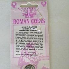 Monedas ibéricas: REPLICA EXACTA DENARIO JULIO CESAR. Lote 265516064