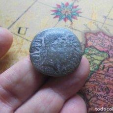 Monedas ibéricas: BONITA MONEDA DE AUGUSTO CON UN RESELLO DE TIBERIO,TIB RESELLADO. Lote 270181478
