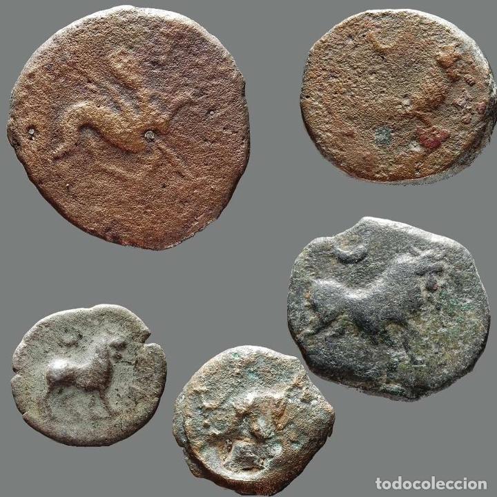 Monedas ibéricas: Interesante conjunto de bronces ibéricos, (5). 179-L - Foto 2 - 278551443